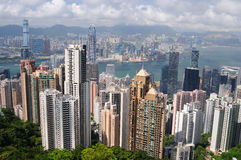 Hong Kong skyscrapers Royalty Free Stock Photos