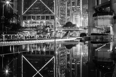 Hong Kong Skyscrapers in bianco e nero Fotografie Stock Libere da Diritti