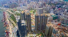 Hong kong skyscrapers Stock Photography
