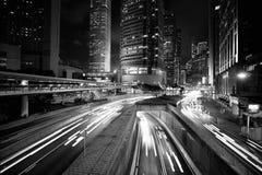 Hong Kong Skyscrapers preto e branco imagem de stock royalty free