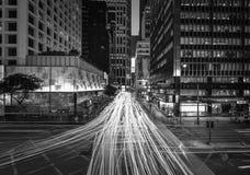 Hong Kong Skyscrapers preto e branco fotos de stock royalty free