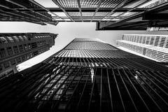 Hong Kong Skyscrapers preto e branco imagem de stock