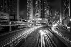 Hong Kong Skyscrapers preto e branco imagens de stock