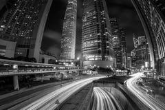 Hong Kong Skyscrapers preto e branco fotos de stock