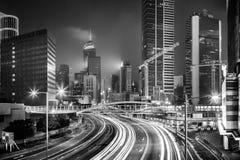 Hong Kong Skyscrapers preto e branco foto de stock