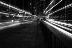 Hong Kong Skyscrapers preto e branco fotografia de stock