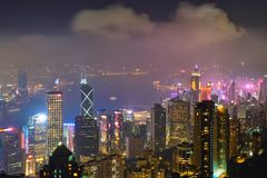 Hong Kong skyscrapers skyline cityscape view royalty free stock photos