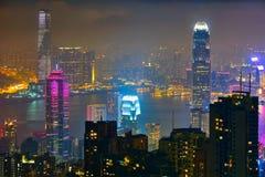 Hong Kong skyscrapers skyline cityscape view stock photos