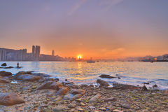 The Hong Kong Skyscrapers View From Lei Yue Mun Stock Images