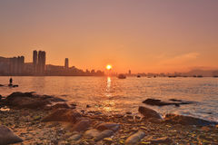 The Hong Kong Skyscrapers View From Lei Yue Mun Royalty Free Stock Photos