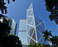 Hong Kong skyskrapa fotografering för bildbyråer