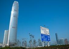 Hong Kong skyskrapa Royaltyfria Bilder