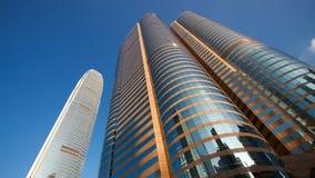 Hong Kong skyskrapa Royaltyfri Foto