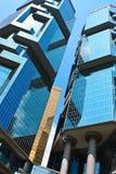 Hong Kong skyskrapor Royaltyfri Bild