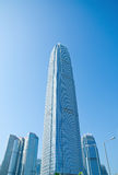 Hong Kong skyskrapor Fotografering för Bildbyråer
