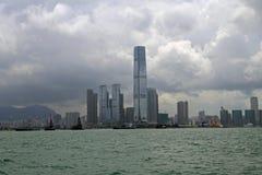 Hong Kong skyskrapor Arkivfoto