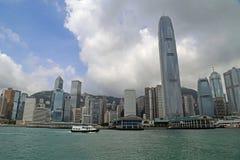 Hong Kong skyskrapor Arkivbild