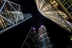 Hong Kong skyskrapor Royaltyfri Fotografi