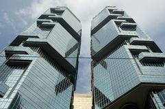 Hong Kong skyskrapor Arkivfoton