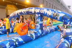 Hong Kong : Slide the City 2015 Stock Image
