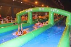Hong Kong : Slide the City 2015 Stock Photography