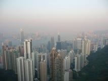 Hong Kong Smog fotos de stock royalty free