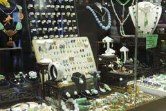 Hong Kong smycken shoppar Arkivbilder