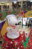 Hong Kong Snoopy christmas decoration in APM Stock Photo