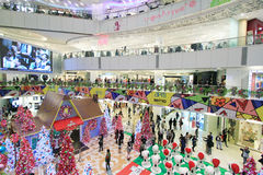 Hong Kong Snoopy christmas decoration Royalty Free Stock Photography