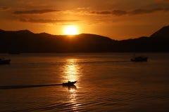 Hong Kong soluppgång arkivfoton