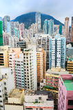 Hong Kong sovrappopolato Immagine Stock