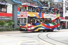 Hong Kong spårvagn royaltyfria foton