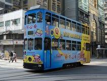 Hong Kong spårvagn Arkivbilder