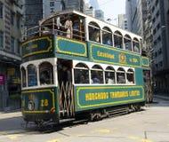 Hong Kong spårvagn Fotografering för Bildbyråer