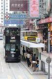 Hong Kong spårvagn Arkivbild
