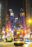 Hong Kong spårvagnar Royaltyfri Foto