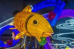Hong Kong 2018 Spring Lantern exhibition. HONG KONG , MARCH 05 : The Spring Lantern exhibition in Hong kong on March 05 2018. The annual Lantern exhibition is Royalty Free Stock Images