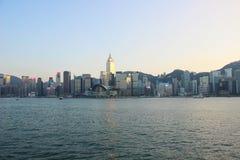 Hong Kong stad, kaj royaltyfria bilder