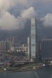 Hong Kong-stad skyline.ICC Stock Afbeelding