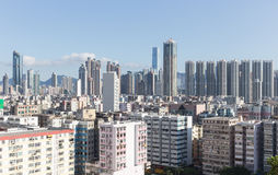 Hong Kong-stad skyline.kowloon Stock Foto's