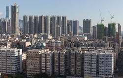 Hong Kong stad skyline.kowloon royaltyfri bild