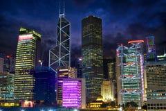 Hong Kong stads- arkitektur Royaltyfri Fotografi