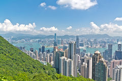 Hong Kong-stadsmening van Victoria-piek Stock Fotografie