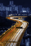 Hong Kong stadsnatt Royaltyfri Foto
