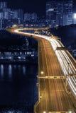 Hong Kong stadsnatt Arkivbild