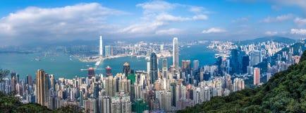 Hong Kong-Stadt Ansicht von der Spitze Lizenzfreie Stockfotografie