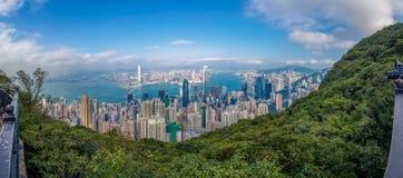 Hong Kong-Stadt Ansicht von der Spitze Stockfotografie