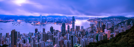Hong Kong-Stadt Ansicht von der Spitze Lizenzfreies Stockbild