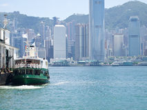 Hong Kong and Star Ferry. The view of Hong Kong island with Star Ferry Stock Photography