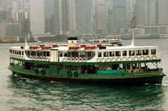 Hong Kong: Star Ferry Crossing Victoria Harbour Royalty Free Stock Photos